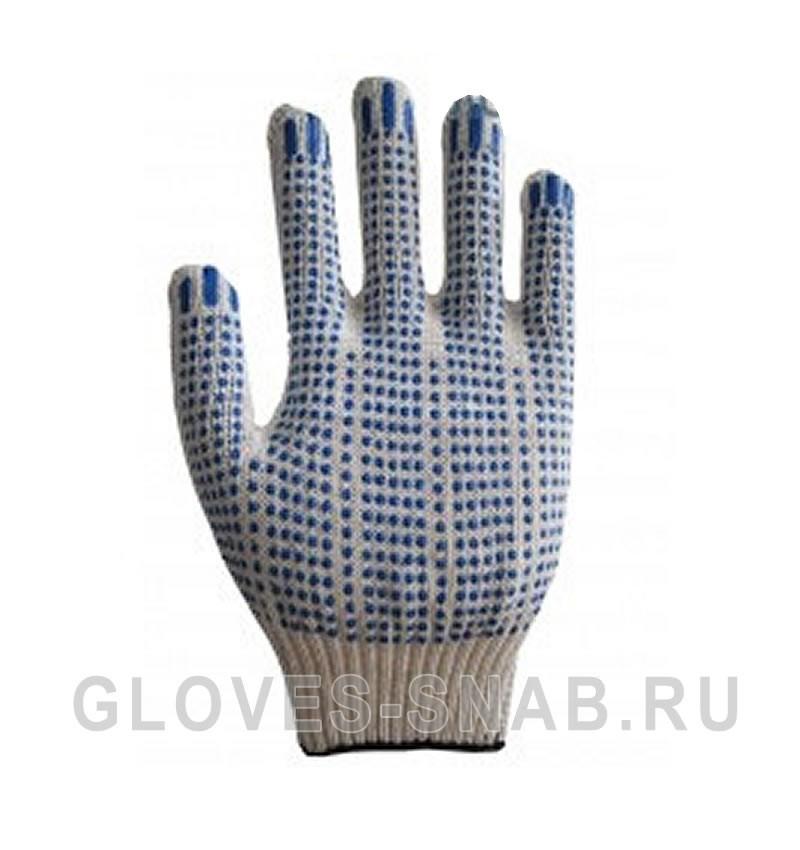 Перчатки Х/Б с ПВХ ТОЧКА 10 класс 4-х нитка
