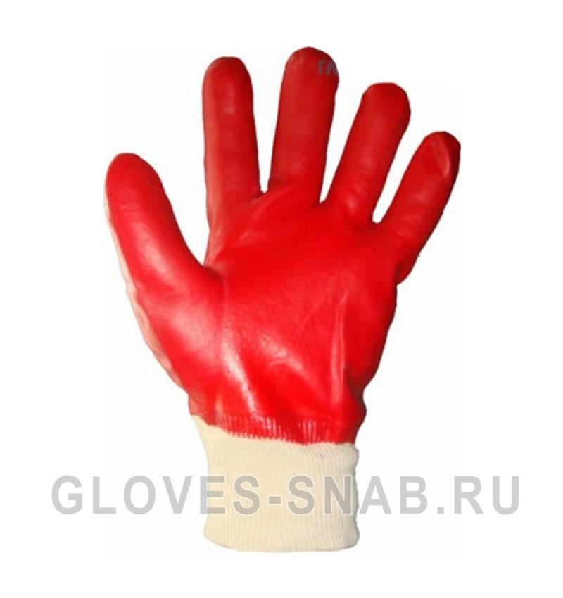 Перчатки МБС маслобензостойкие (гранат)